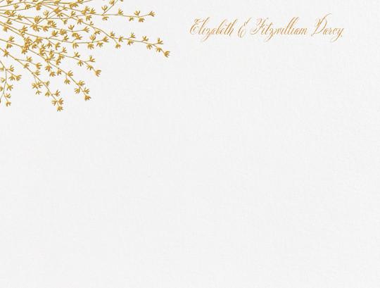 Forsythia (Thank You) - Medium Gold - Crane & Co. - Wedding