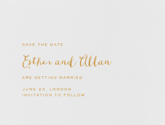 Miller (Save The Date) - Medium Gold - Crane & Co. - Save the date