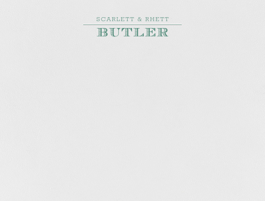 Aperitif (Thank You) - Hunter Green - Crane & Co. - Personalized stationery