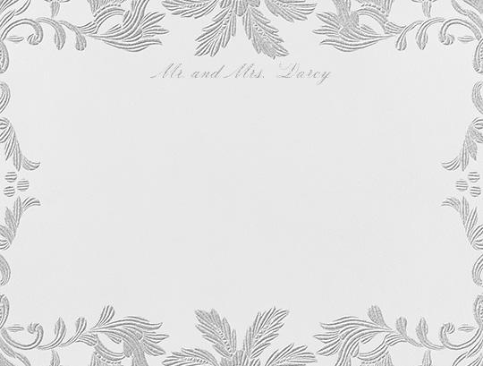 Leaf Lace II (Thank You) - Platinum - Oscar de la Renta