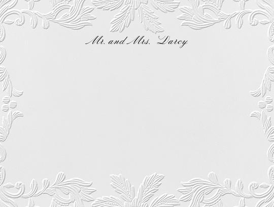 Leaf Lace II (Thank You) - Blind Emboss - Oscar de la Renta