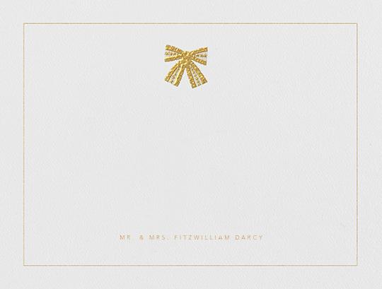 Tie the Knot (Stationery) - Gold - Oscar de la Renta