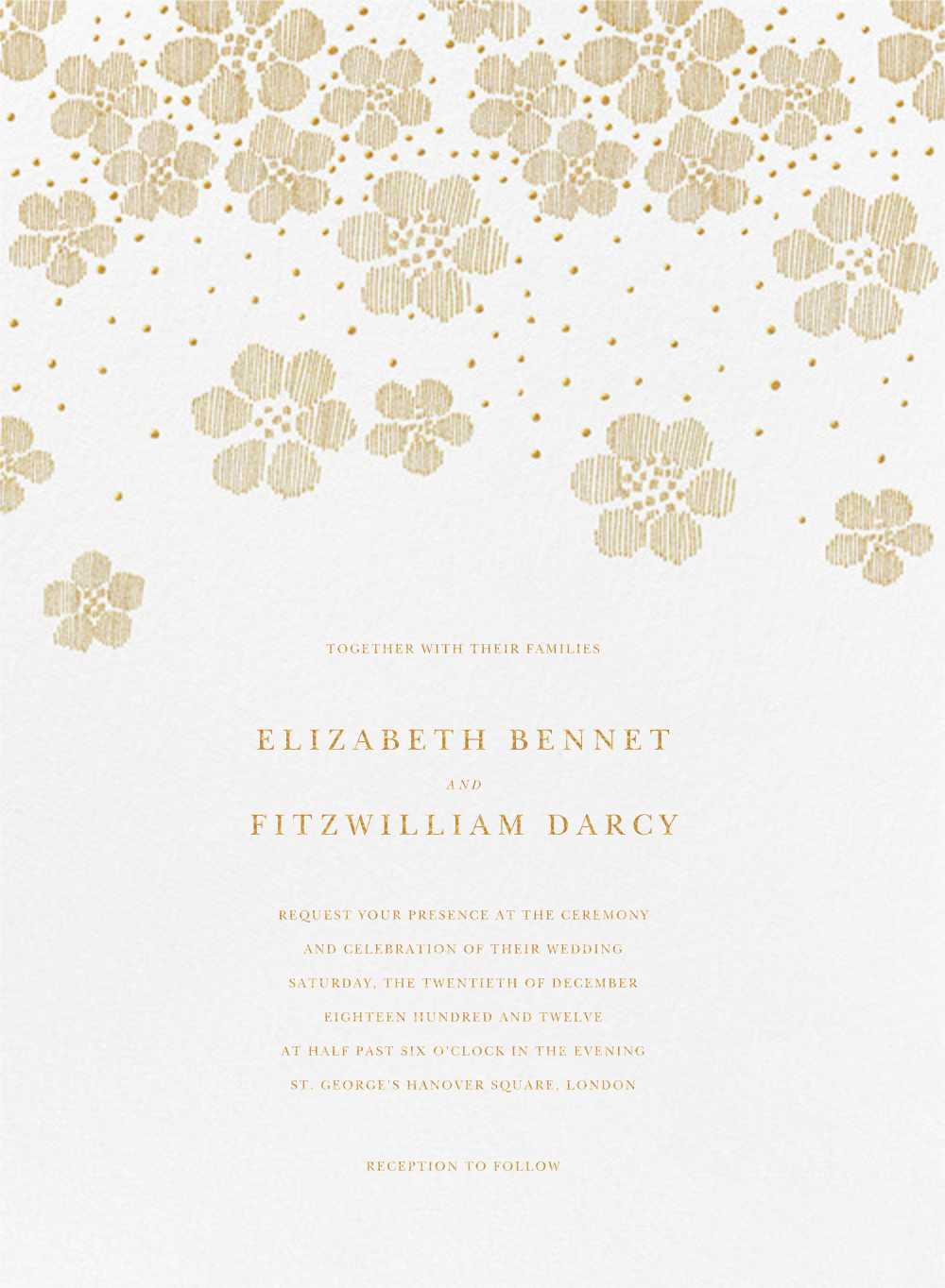 Blossoms on Tulle II - Medium Gold - Oscar de la Renta