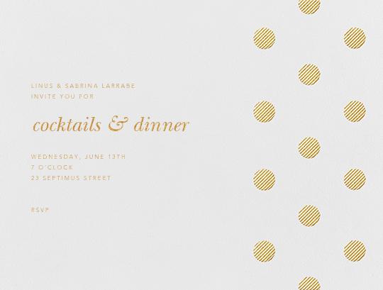 Polka Dot (Horizontal) - Medium Gold - Oscar de la Renta