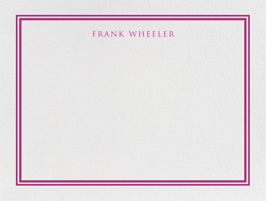 Beacon Hill - Raspberry - Paperless Post - Personalized stationery