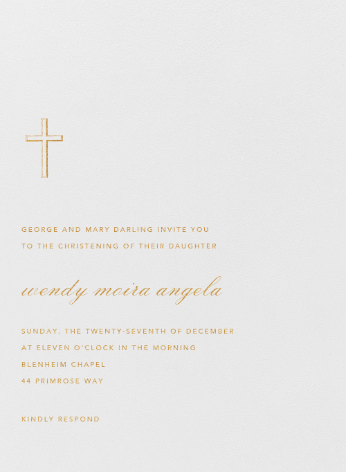 Malaga - Medium Gold - Paperless Post