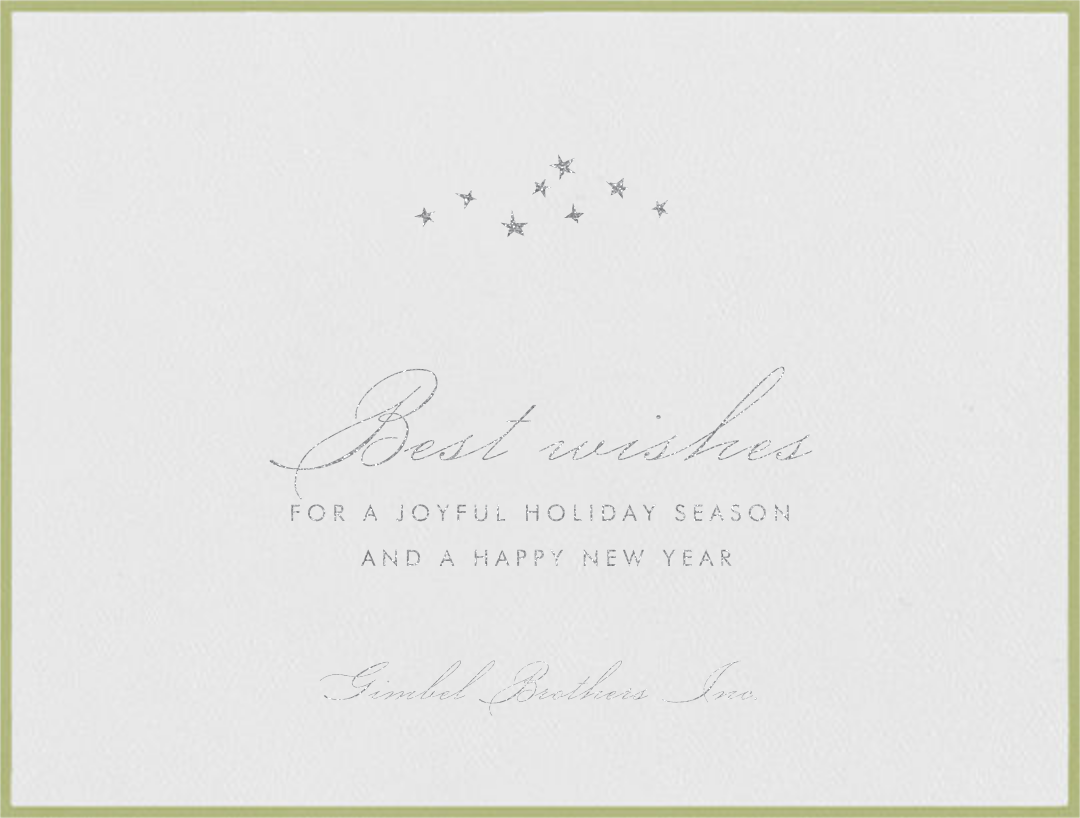 Galilei - Celery - Paperless Post - Business holiday cards