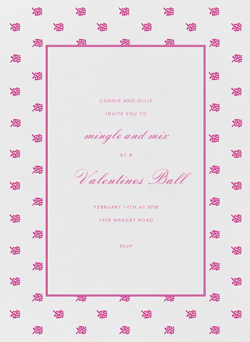 Petite Floral - Raspberry - Oscar de la Renta - Valentine's Day