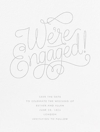 Bobbin I (Engagement) - Platinum - Paperless Post - null
