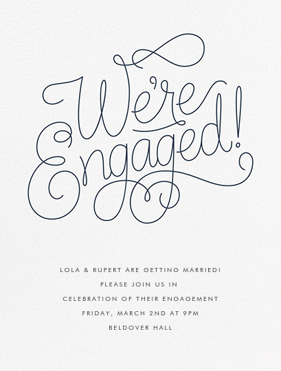 Bobbin I (Engagement) - Charcoal Gray - Paperless Post - Engagement party