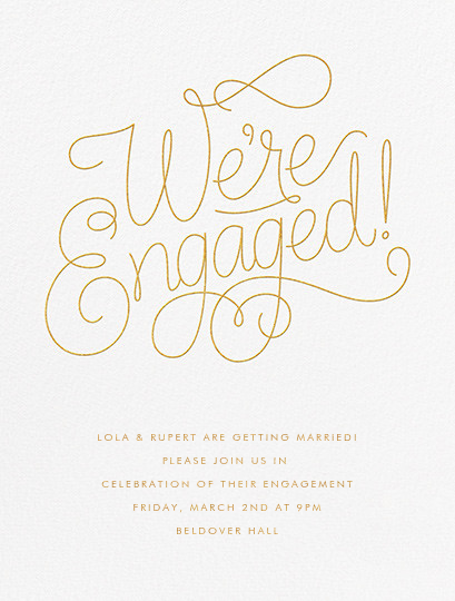 Bobbin I (Engagement) - Gold - Paperless Post - Engagement party