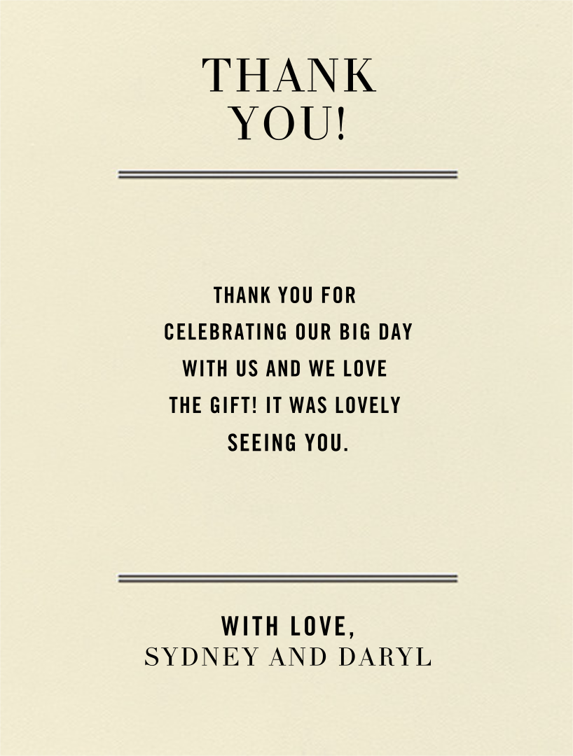 Typographic I (Thank You) - kate spade new york - General