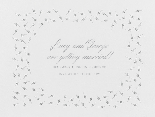 Emily I (Save The Date) - Platinum - Paperless Post - null