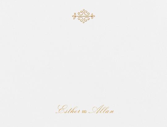 Kerala I (Thank You) - Gold - Paperless Post - Wedding stationery