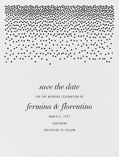 Jubilee I (Save the Date) - Black - Kelly Wearstler - Save the date