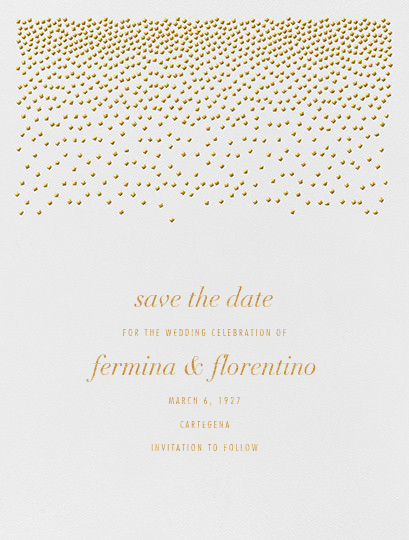 Jubilee I (Save the Date) - Medium Gold - Kelly Wearstler - Save the date
