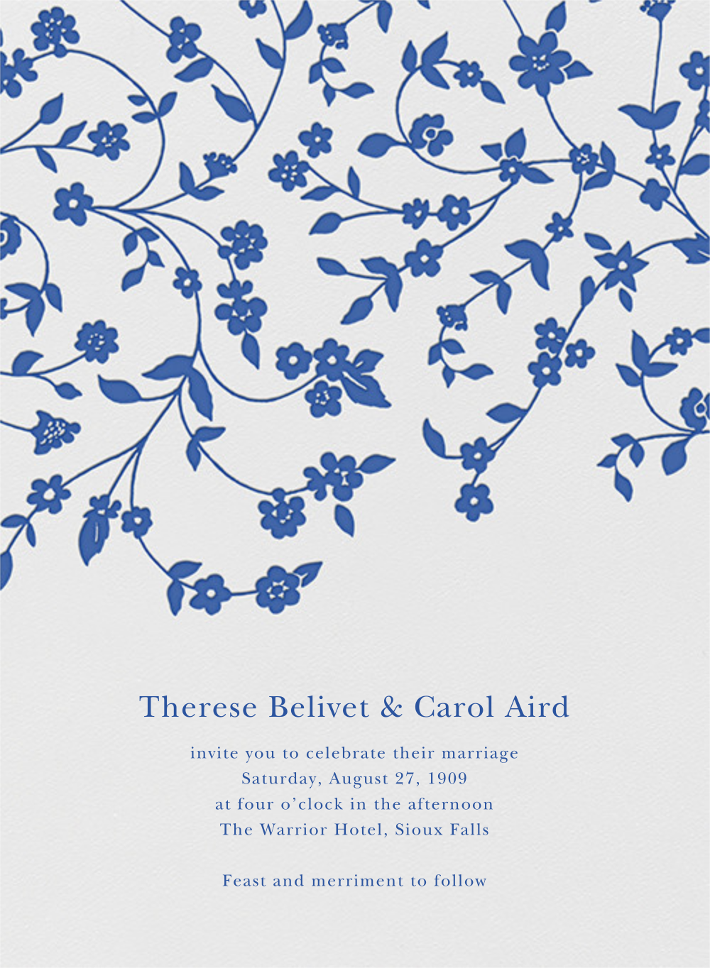 Floral Trellis I - Regent Blue - Oscar de la Renta