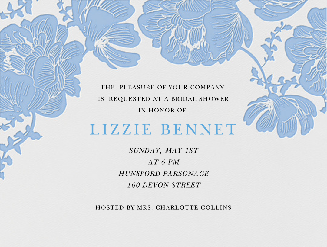 Audrey I (Save The Date) - Newport Blue - Paperless Post - Bridal shower