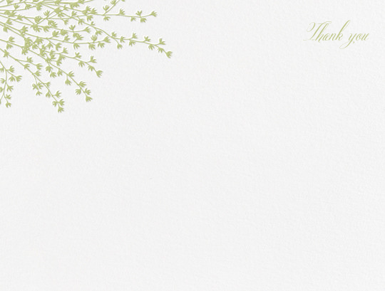Forsythia (Stationery) - Celery - Crane & Co. - Wedding