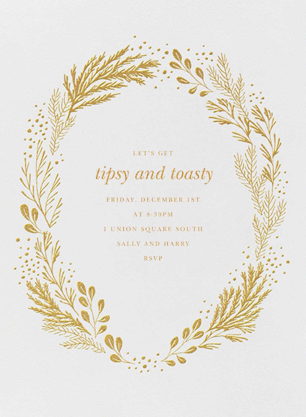 Winter Garden I (Invitation) - Gold - Paperless Post - Winter entertaining