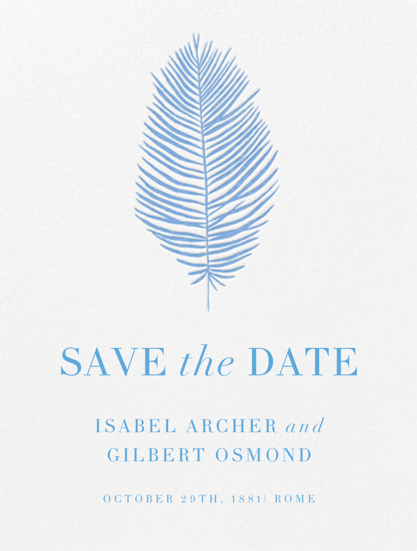 Palmier I (Save the Date) - Newport Blue - Paperless Post - null