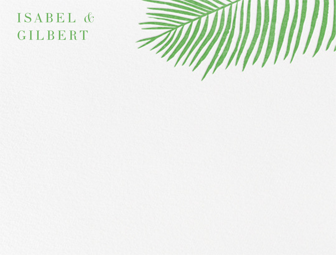 Palmier I (Stationery) - Spring Green - Paperless Post - null