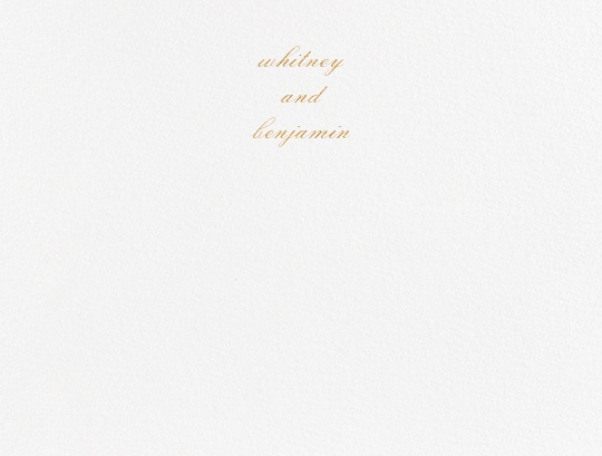 Ligature (Stationery) - Gold - Vera Wang - Personalized stationery