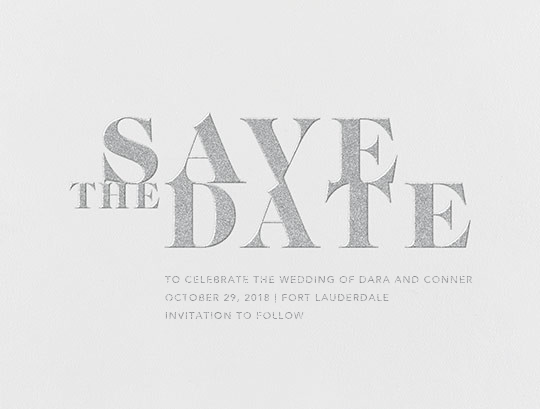 Prelude (Save the Date) - Platinum - Vera Wang - Save the date
