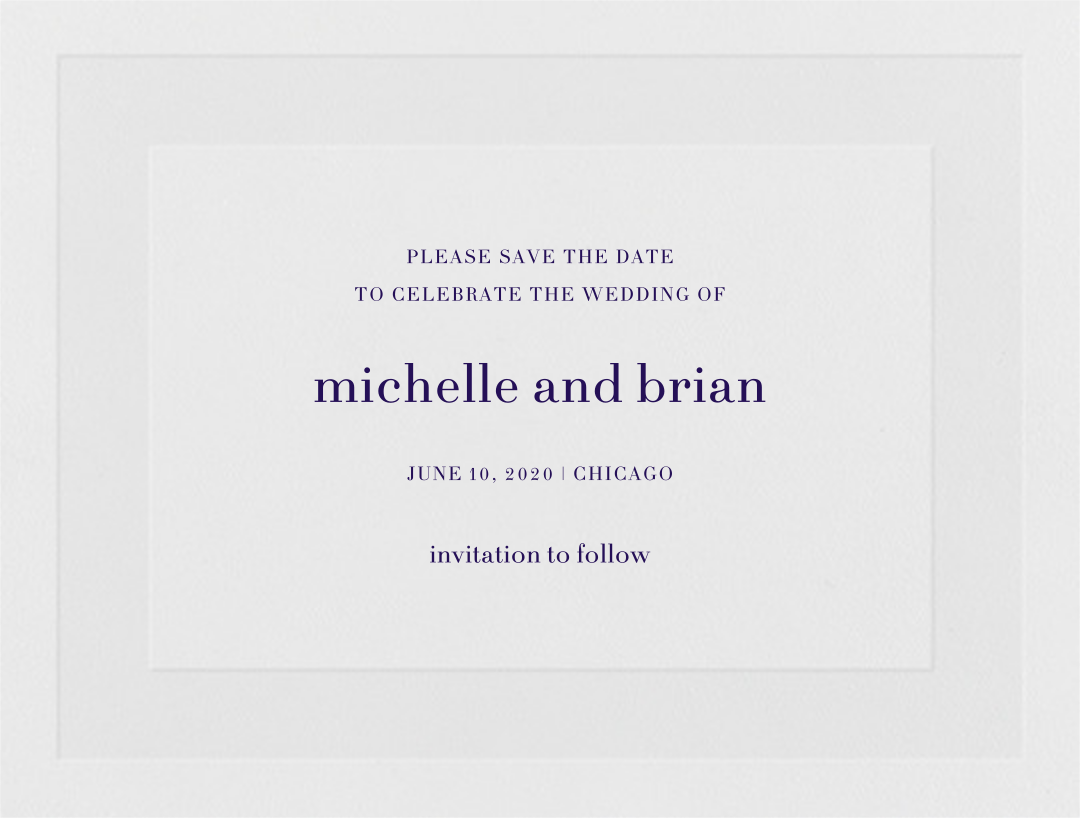 Firth (Save the Date) - Amethyst - Vera Wang - null