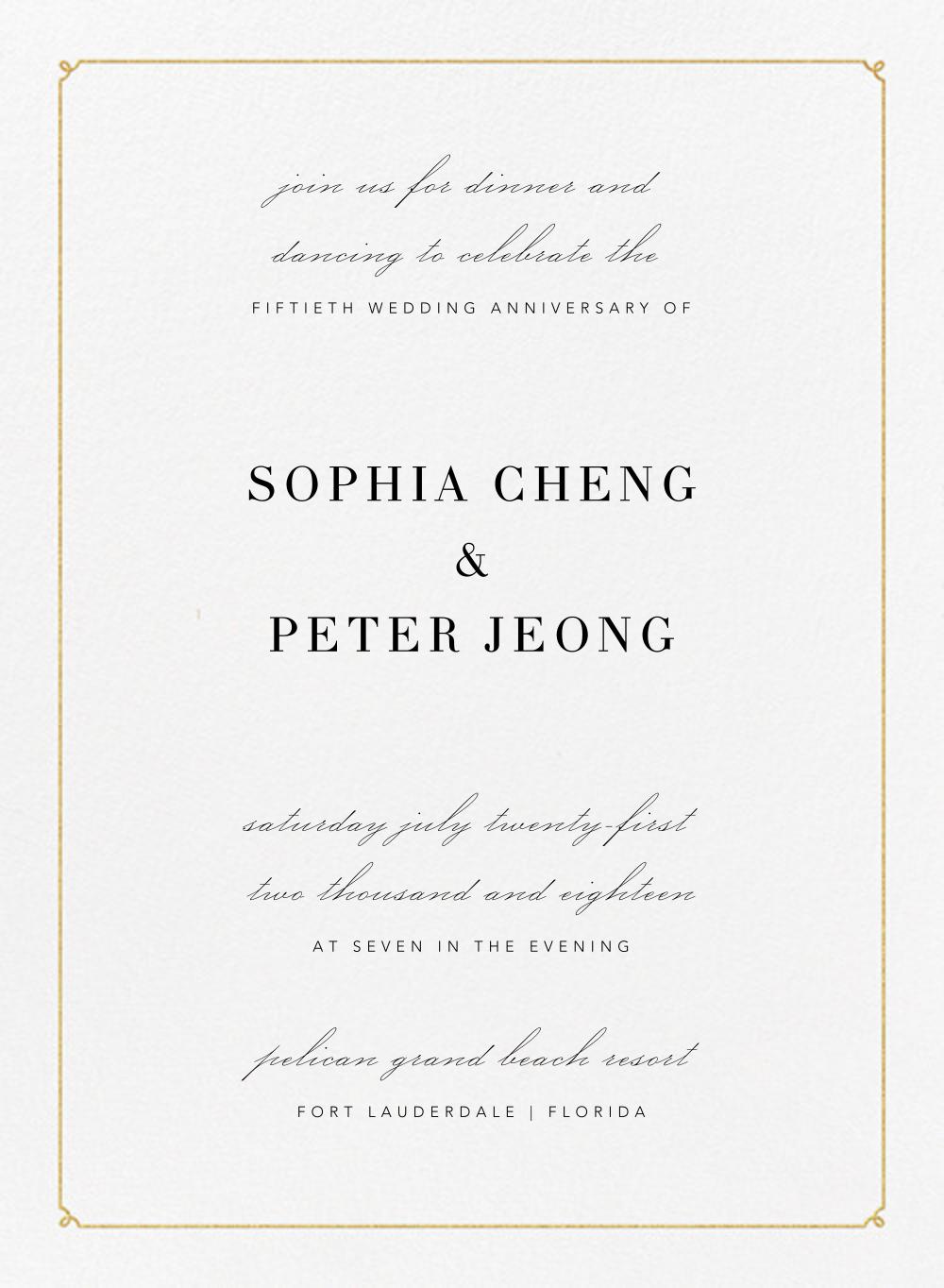 Ledger - Gold - Vera Wang - Anniversary party