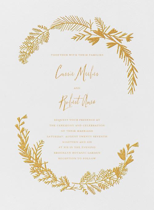 Miss Mimi Margeaux I (Invitation) - Gold - Mr. Boddington's Studio - All