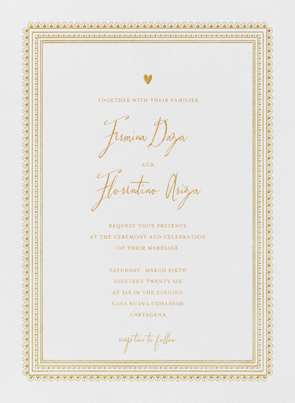 Miss Cricket (Invitation) - Gold - Mr. Boddington's Studio - All