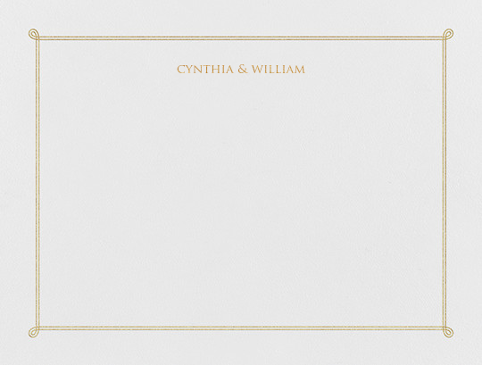 Double Loop Frame I (Stationery) - Gold - Paperless Post - Personalized stationery
