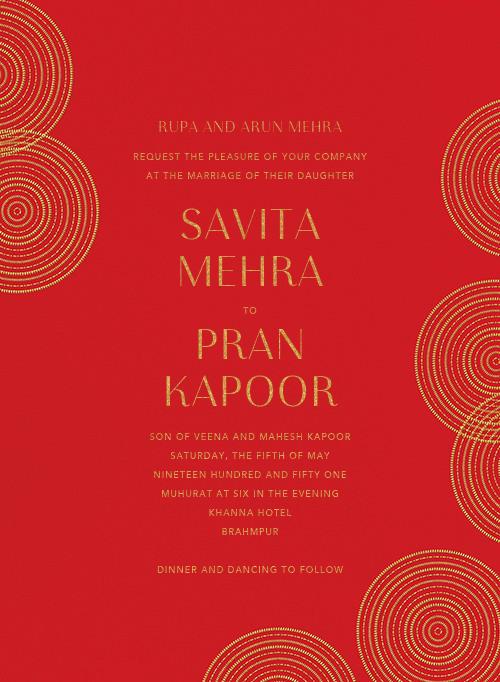 Ghera I (Invitation) - Paperless Post - Indian