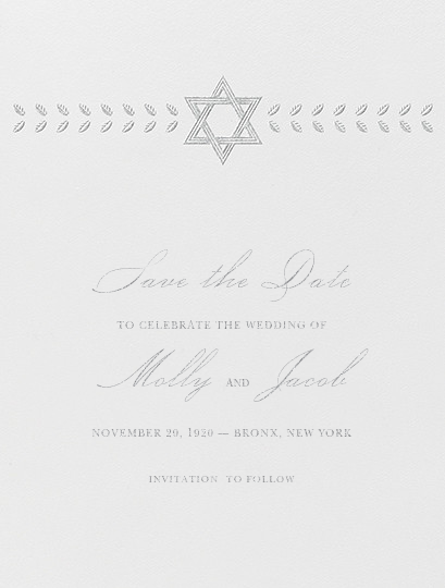 Kayitz I (Save the Date) - Platinum - Paperless Post - Save the date