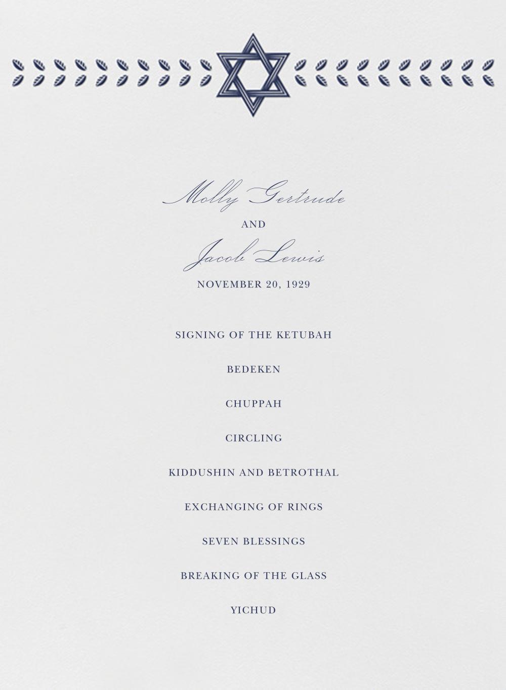 Kayitz I (Program) - Navy - Paperless Post