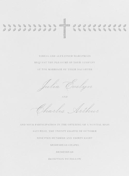Lamina I (Invitation) - Platinum - Paperless Post - All