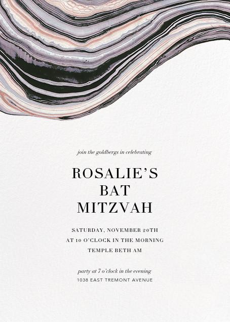 Marbleized (Vertical Invitation) - Kelly Wearstler - Bat and bar mitzvah