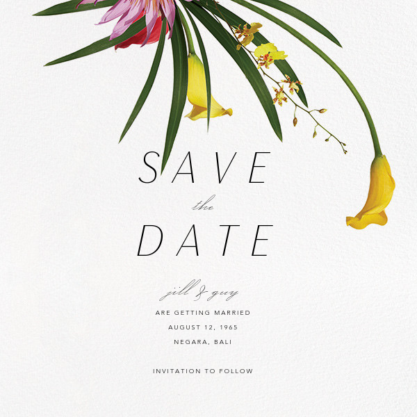 Malacca (Save the Date) - Paperless Post - Save the date