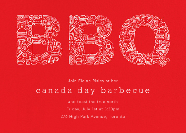 Tiny Barbecue - Maraschino - Paperless Post - Canada Day