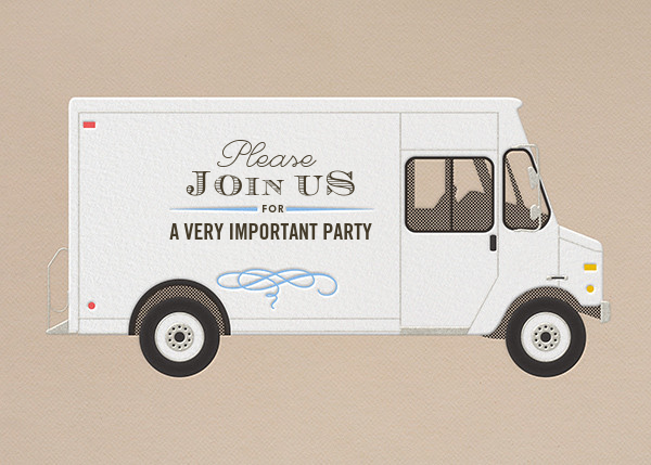 Join Us - Delivery Truck - Paperless Post - General entertaining