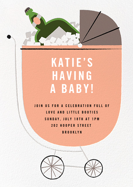 A Fine Vintage - Sherbet - Paperless Post - Baby shower