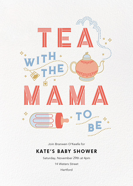 Little Teapot - Paperless Post - Baby shower