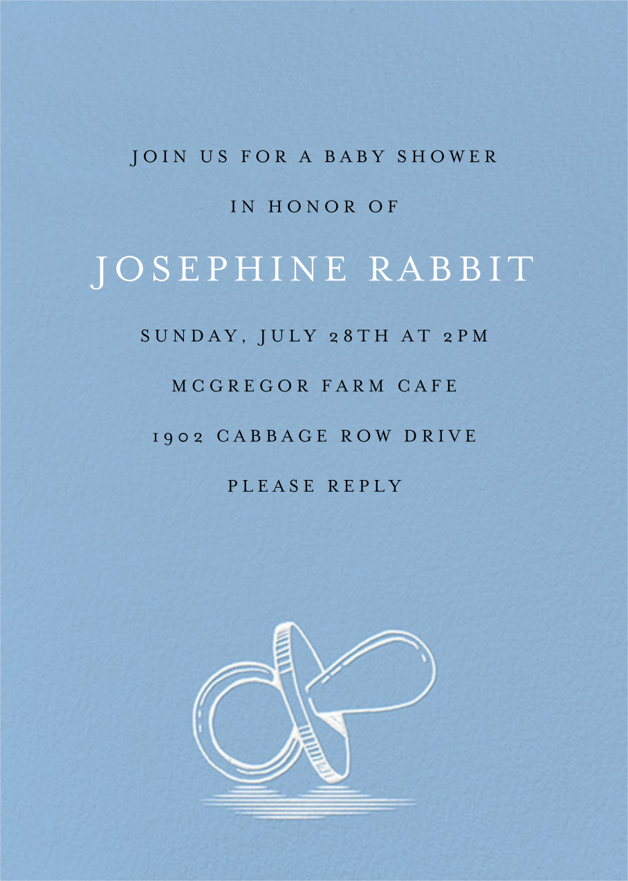 Pacified - Spring Rain - Paperless Post - Baby shower