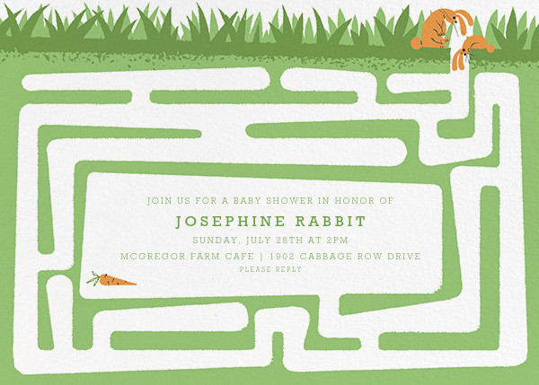 Hare and There - Paperless Post - Woodland baby shower