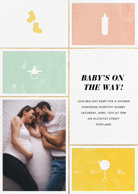 The Symbol Life - Gold - Paperless Post - Baby shower