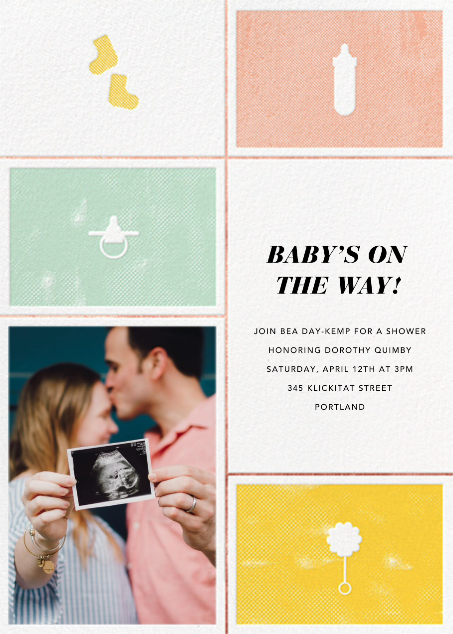 The Symbol Life - Rose Gold - Paperless Post - Baby shower