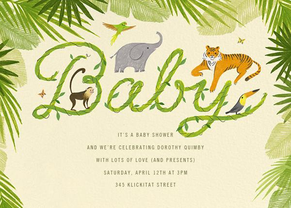 The Vine Print - Paperless Post - Baby shower