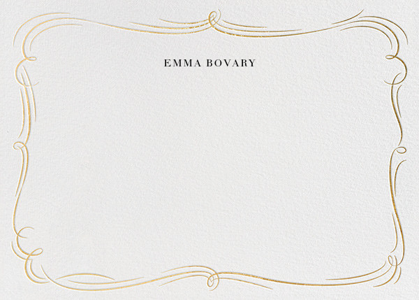 Plume - White/Gold - Paperless Post - Personalized stationery