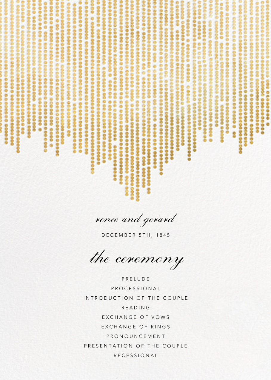 Josephine Baker (Program) - White/Gold - Paperless Post - Menus and programs